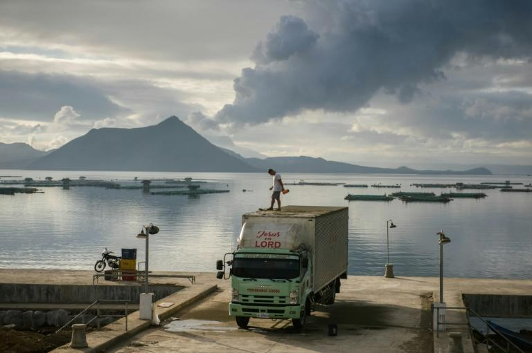 The Taal volcano burst into life nearly a week ago (AFP Photo/Ed JONES)