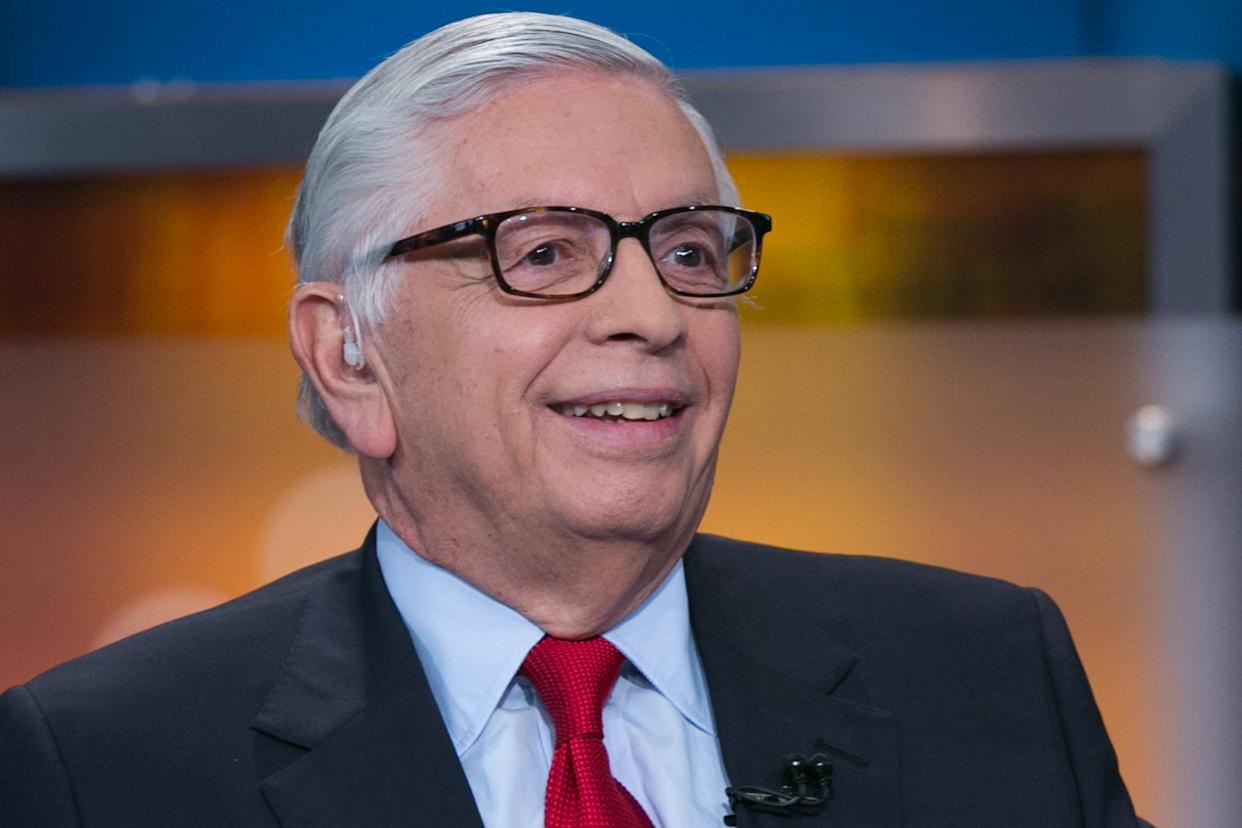 Former NBA commissioner David Stern remains in serious condition five days after suffering a brain hemorrhage. (Adam Jeffery/CNBC/NBCU Photo Bank/NBCUniversal via Getty Images)