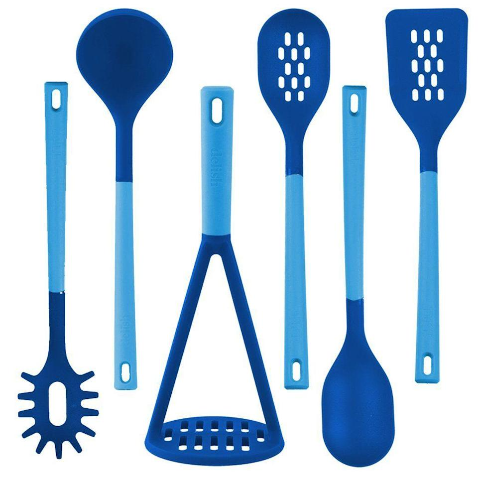 """<p>delishessentials.com</p><p><strong>$44.99</strong></p><p><a href=""""https://delishessentials.com/collections/kitchen-tools/products/set-of-6-tools?variant=30861388939364"""" rel=""""nofollow noopener"""" target=""""_blank"""" data-ylk=""""slk:BUY NOW"""" class=""""link rapid-noclick-resp"""">BUY NOW</a></p><p>Have a recipe you want to make but don't know where to start? Make sure you've got the basics covered with this Delish Essentials tool kit. </p><p><strong>See more on <a href=""""https://delishessentials.com/"""" rel=""""nofollow noopener"""" target=""""_blank"""" data-ylk=""""slk:delishessentials.com"""" class=""""link rapid-noclick-resp"""">delishessentials.com</a>. </strong></p>"""