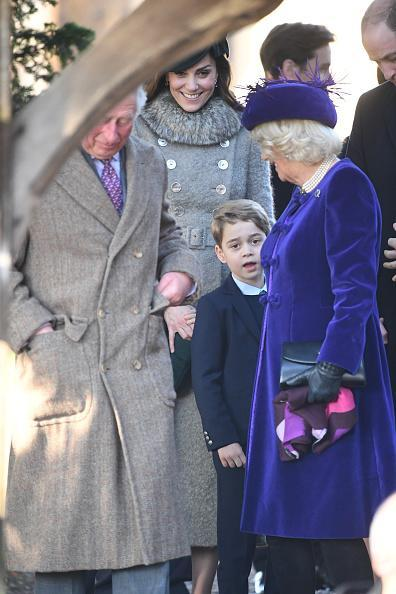 <p>Prince George shares thoughts with his grandfather Prince Charles and Camilla, Duchess of Cornwall.</p>