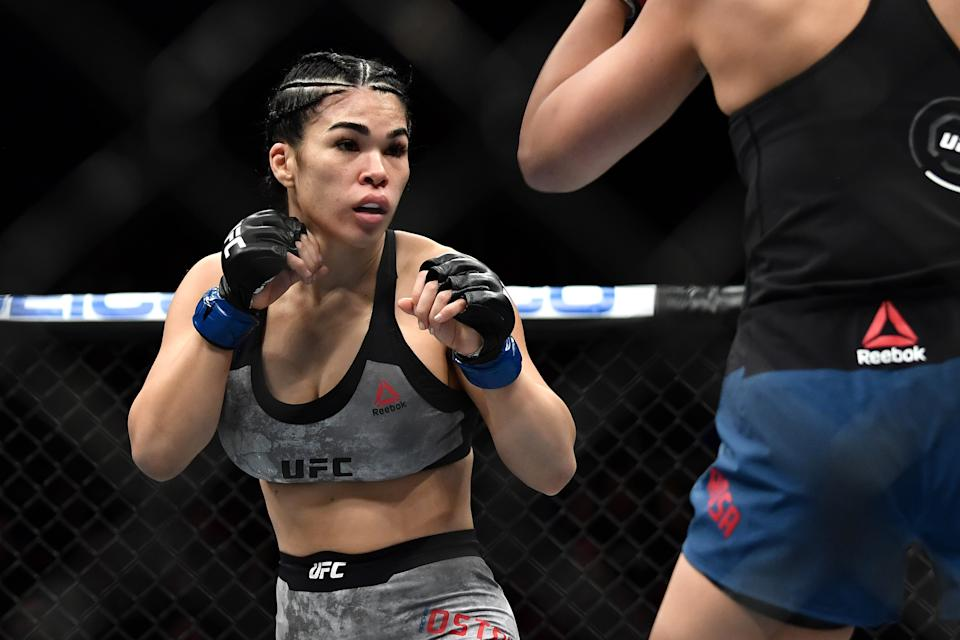 Rachael Ostovich accepted a one-year ban on Thursday for violating the UFC's anti-doping policy.