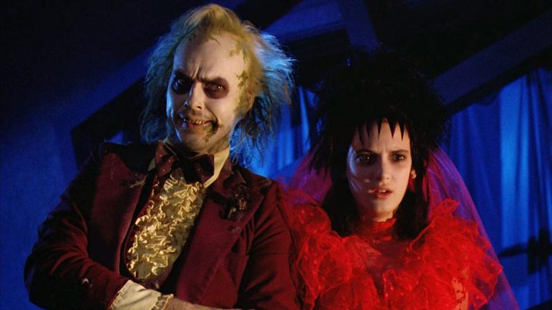 Michael Keaton and Winona Ryder in 'Beetlejuice'. (Credit: Warner Bros)