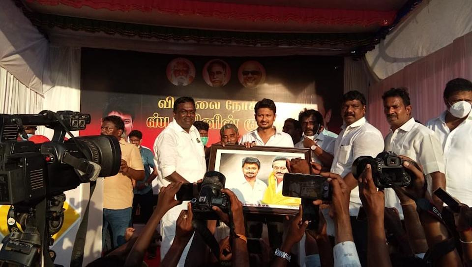 Udhayanidhi Stalin kick-started his election campaign on Friday.