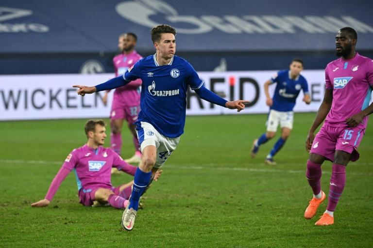 Schalke strker Matthew Hoppe, 19, is the first American footballer to score a Bundesliga hat-trick