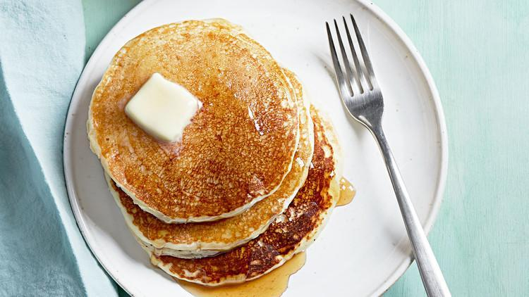 """<p>You don't need a griddle to prepare our <a href=""""https://www.marthastewart.com/275587/brunch-pancake-recipes"""" rel=""""nofollow noopener"""" target=""""_blank"""" data-ylk=""""slk:test kitchen's favorite pancakes"""" class=""""link rapid-noclick-resp"""">test kitchen's favorite pancakes</a>—the natural, nonstick properties of a cast-iron skillet works just as well for preparing this all-star breakfast recipe. <a href=""""https://www.marthastewart.com/1515526/test-kitchens-favorite-buttermilk-pancakes"""" rel=""""nofollow noopener"""" target=""""_blank"""" data-ylk=""""slk:View recipe"""" class=""""link rapid-noclick-resp""""> View recipe </a></p>"""