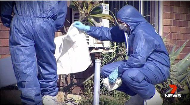 Forensic specialists investigate the scene. Source: 7 News