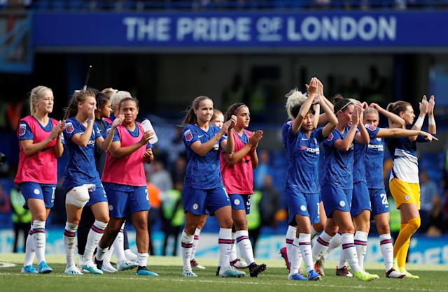 Chelsea secured their ninth FA WSL victory of the season beating Bristol City 6-1 Action Images via Reuters/Paul Childs