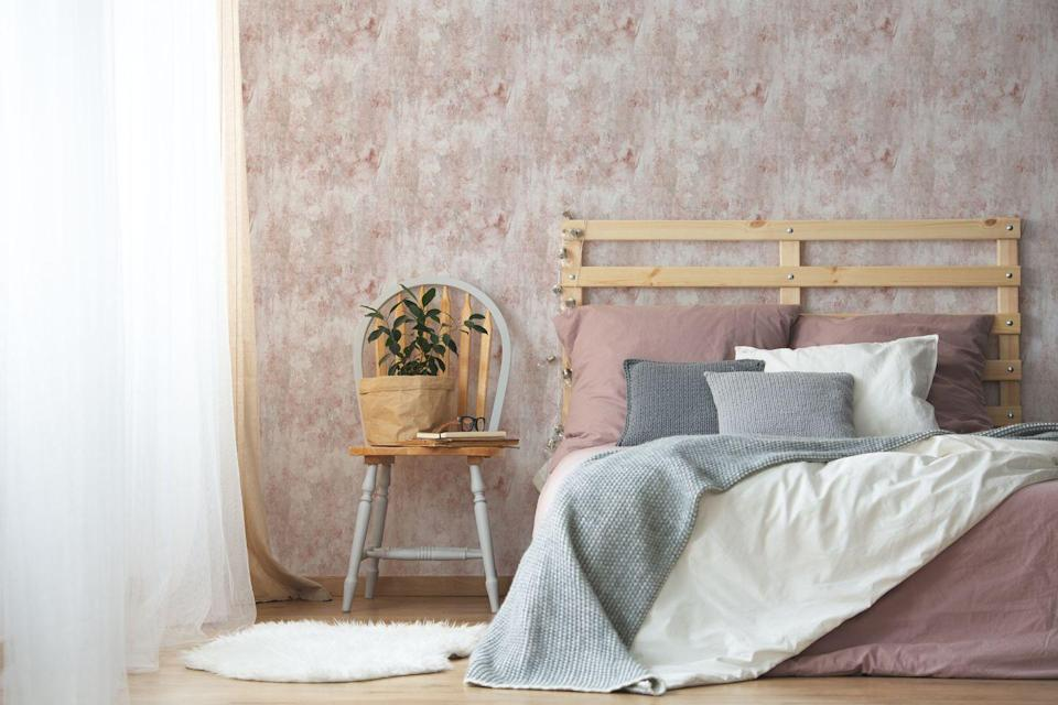 """<p><strong>Storm Plaster Pink Wallpaper, £40</strong></p><p><a class=""""link rapid-noclick-resp"""" href=""""https://go.redirectingat.com?id=127X1599956&url=https%3A%2F%2Fwww.homebase.co.uk%2Fhouse-beautiful-storm-plaster-pink-wallpaper%2F12945376.html&sref=https%3A%2F%2Fwww.housebeautiful.com%2Fuk%2Fhouse-beautiful-collections%2Fg36172810%2Fhomebase-wallpaper%2F"""" rel=""""nofollow noopener"""" target=""""_blank"""" data-ylk=""""slk:BUY NOW"""">BUY NOW</a></p>"""