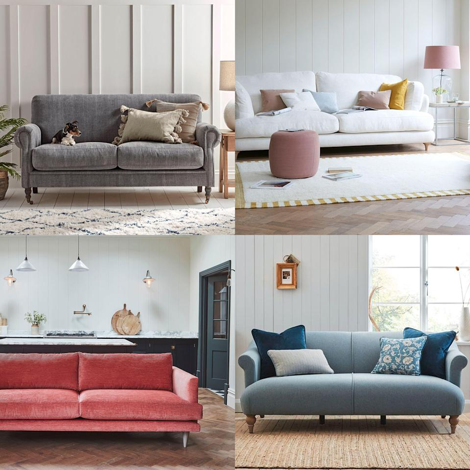 """<p>Colour is one of the most vital considerations when decorating our homes, influencing everything from our mood to our quality of sleep, and even our concentration. It is <a href=""""https://www.countryliving.com/uk/homes-interiors/interiors/a35330887/happy-paint-colours/"""" rel=""""nofollow noopener"""" target=""""_blank"""" data-ylk=""""slk:colour"""" class=""""link rapid-noclick-resp"""">colour</a> that creates a relaxing bedroom sanctuary, a crisp and bright kitchen, or a warm and welcoming hallway. </p><p>It is unsurprising therefore that colour is one of the most significant factors affecting our purchasing decisions, especially when it comes to big ticket items such as <a href=""""https://www.countryliving.com/uk/homes-interiors/interiors/g33412202/country-living-dfs-sofa-range/"""" rel=""""nofollow noopener"""" target=""""_blank"""" data-ylk=""""slk:a sofa"""" class=""""link rapid-noclick-resp"""">a sofa</a>. </p><p>Search data analysis from <a href=""""https://www.homedit.com"""" rel=""""nofollow noopener"""" target=""""_blank"""" data-ylk=""""slk:Homedit.com"""" class=""""link rapid-noclick-resp"""">Homedit.com</a> has revealed exactly what sofa colours we are looking for online, and the results contain some surprises. </p><p>The top 10 most sought-after sofa colours of 2021 are:</p><ol><li>Grey</li><li>Pink</li><li>Blue</li><li>White</li><li>Green</li><li>Black</li><li>Beige</li><li>Cream</li><li>Red</li><li>Yellow </li></ol><p>Unsurprisingly, <a href=""""https://www.countryliving.com/uk/homes-interiors/interiors/a30775592/painting-bedroom-grey-sleep/"""" rel=""""nofollow noopener"""" target=""""_blank"""" data-ylk=""""slk:grey"""" class=""""link rapid-noclick-resp"""">grey</a> topped the list as the most sought-after sofa colour for 2021, followed more remarkably by pink. Classic beige and cream came towards the bottom of the list, in favour of more bold choices, an indication of a growing willingness to embrace colourful interiors. </p><p>Read on for our take on the most popular sofa colours 0f 2021...</p>"""