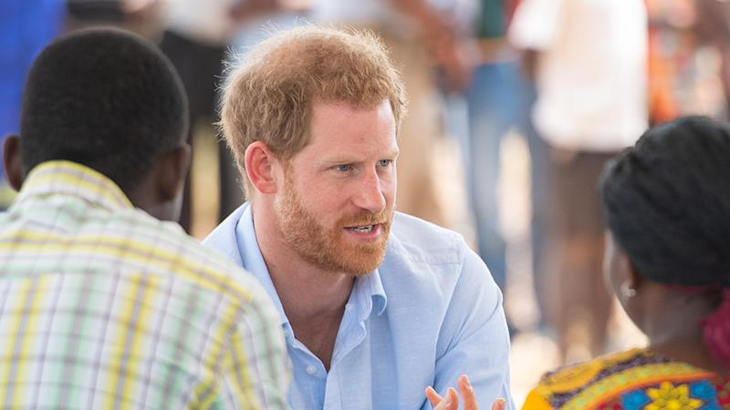 Prince Harry visits the Mauwa Health Centre in Blantyre, Malawi.