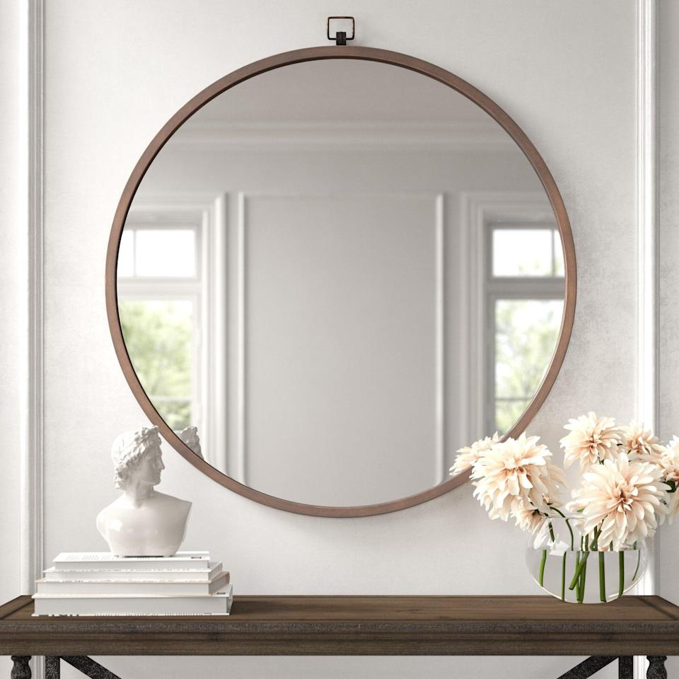 "<br><br><strong>Kelly Clarkson Home</strong> Modern & Contemporary Beveled Accent Mirror, $, available at <a href=""https://go.skimresources.com/?id=30283X879131&url=https%3A%2F%2Fwww.wayfair.com%2Fdecor-pillows%2Fpdp%2Fkelly-clarkson-home-modern-contemporary-beveled-accent-mirror-w002845354.html"" rel=""nofollow noopener"" target=""_blank"" data-ylk=""slk:Wayfair"" class=""link rapid-noclick-resp"">Wayfair</a>"