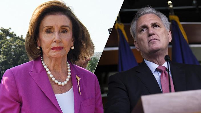 Pelosi and McCarthy(Photos: Nicholas Kamm/AFP via Getty Images, Tom Brenner/Bloomberg via Getty Images)