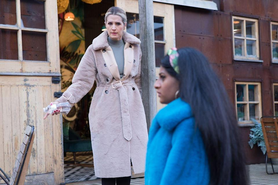<p>She warns Yazz to back off.</p>