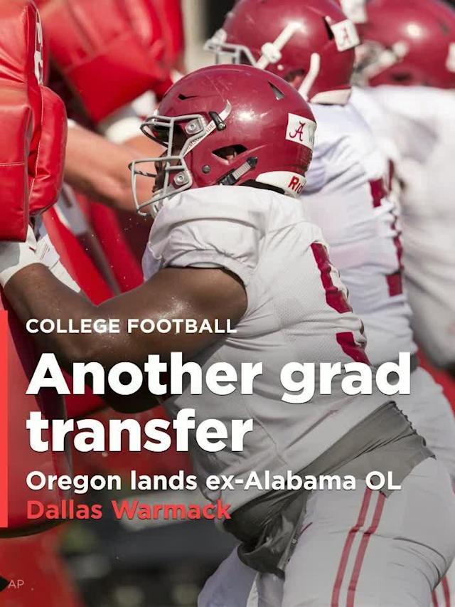 Dallas Warmack, an offensive lineman from Alabama, made it known that he will finish his career with the Ducks.