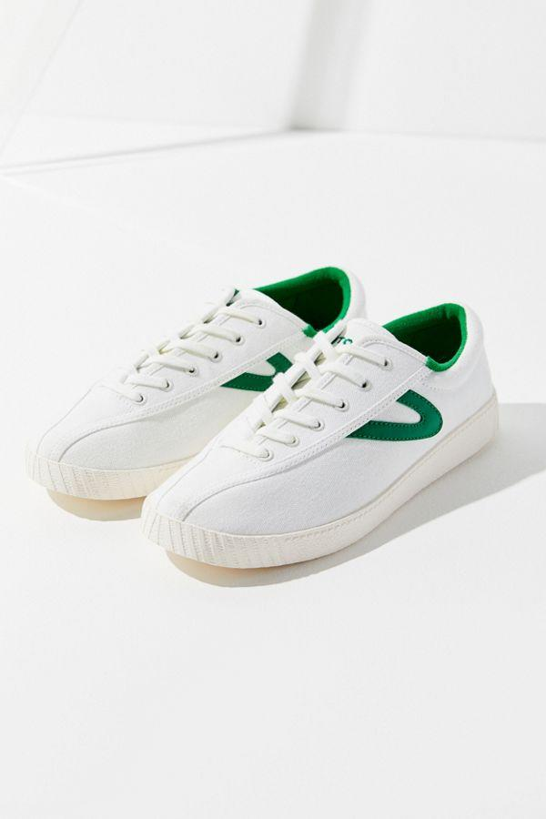 Tetorn Nylite Plus Sneaker in White/Green