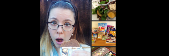 A collage of photos depicting life with celiac disease.