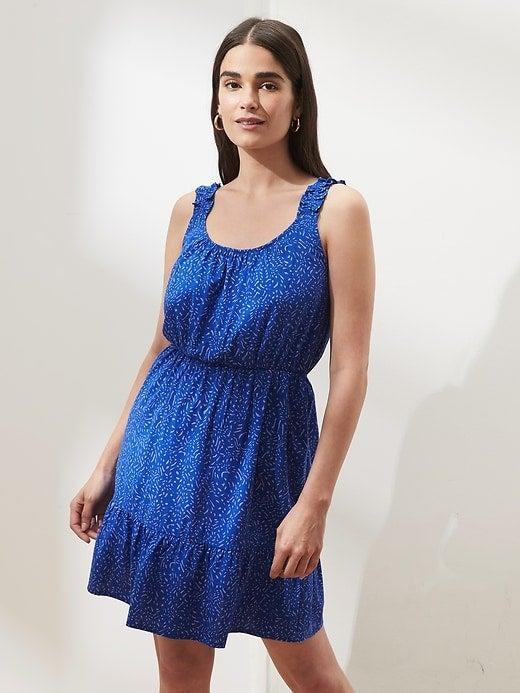 """<br><br><strong>Banana Republic</strong> Ruffle Fit-and-Flare Dress, $, available at <a href=""""https://go.skimresources.com/?id=30283X879131&url=https%3A%2F%2Fbananarepublicfactory.gapfactory.com%2Fbrowse%2Fproduct.do%3Fpid%3D811933011%26cid%3D1145487%26pcid%3D1145487%26vid%3D1%26cpos%3D94%26cexp%3D287%26kcid%3DCategoryIDs%253D1145487%26ctype%3DListing%26cpid%3Dres21072210375884101901149%23pdp-page-content"""" rel=""""nofollow noopener"""" target=""""_blank"""" data-ylk=""""slk:Banana Republic Factory"""" class=""""link rapid-noclick-resp"""">Banana Republic Factory</a>"""