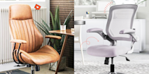 """<p>If you're working from home these days (more like for the past six months), and the whole sitting-in-front-of-your-laptop-for-hours-on-end thing has been really wearing on you, it's maybe time for you to invest in an ergonomic chair. What the heck does """"ergonomic"""" even mean? Glad you asked! """"Ergonomic means relating to or designed for efficiency and comfort in the working environment,"""" says Candace Morton, PT, DPT at <a href=""""https://prorehablou.com/"""" rel=""""nofollow noopener"""" target=""""_blank"""" data-ylk=""""slk:ProRehab Physical Therapy"""" class=""""link rapid-noclick-resp"""">ProRehab Physical Therapy</a>. So combine that definition with a chair, and it's one that has modifiable settings to best fit your posture while performing seated tasks. """"Some adjustments can include height of arm rests, tilt of the seat, and modifiable lumbar curvature along with chair height,"""" Morton explains. <br></p><h2 class=""""body-h2"""">The benefits? </h2><p class=""""body-text"""">She says finding the right chair to sit in throughout the day that properly fits your body is imperative to help decrease the potential for conditions induced by poor posture including, but not limited to, sciatica, hip pain, low back pain, neck pain and cervical headaches. Ouch! So if you're a person who spends about 6-8 hours a day sitting at a desk and are starting to experience any of these signs, you might want to consider swapping your office chair. <br></p><h2 class=""""body-h2"""">What happens if I don't use one? </h2><p>According to Morton, the negative effects include decreased lumbar lordosis, referring to the natural inward curvature of your lumbar spine, which aids in shock absorption while walking, sitting, and performing any upright activity. Other not-so-great things can include increased pain in your neck and shoulders due to improper shoulder height while working. <br></p><h2 class=""""body-h2"""">What should I look for in an ergonomic chair? </h2><p>Michael Escobar, Regional Director at <a href=""""https://www.wellworkforce.co"""