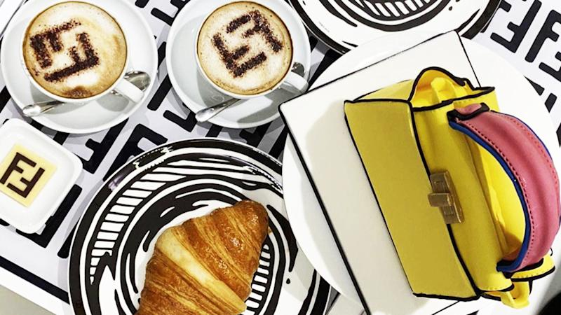 b35988c1d Fendi's New London Cafe Serves Up Lattes, Antipasto and Luxury Leather Goods