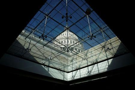 The U.S. Capitol Dome is shown after President Donald Trump and the U.S. Congress failed to reach a deal on funding for federal agencies in Washington, U.S., January 20, 2018. REUTERS/Joshua Roberts