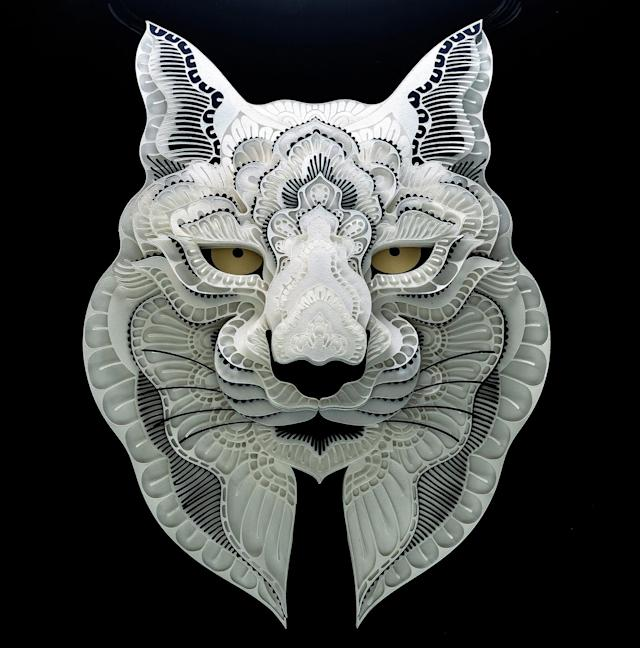<p>Intricate paper cut out of a Iberian lynx. (Photo: Patrick Cabral/Caters News </p>