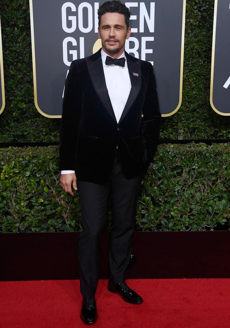 He attended the Golden Globes on Sunday wearing a 'Times Up' pin. Source: Getty