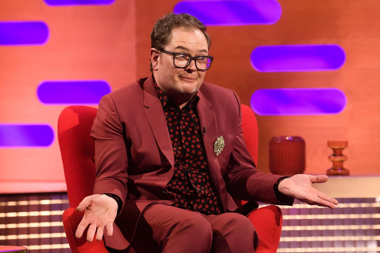 EDITORIAL USE ONLY Alan Carr during filming for the Graham Norton Show at BBC Studioworks 6 Television Centre, Wood Lane, London, to be aired on BBC One on Friday evening. Picture date: Thursday February 4, 2021.