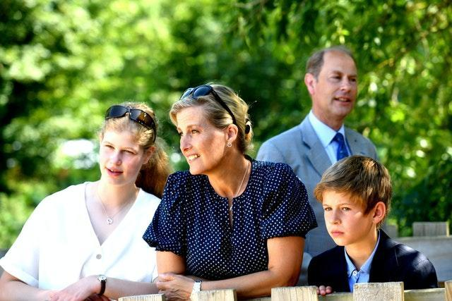The Earl and Countess of Wessex with their children. Jacob King/PA Wire