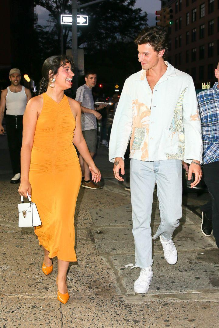 Camila Cabello and Shawn Mendes have a date night in New York, July 23. - Credit: MEGA
