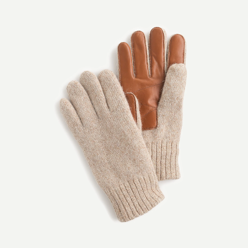 """With these touchscreen gloves keeping his fingers warm, he'll no longer have any excuse for not texting you back. <br><br><strong>J.Crew</strong> Wool Smartphone Gloves, $, available at <a href=""""https://go.skimresources.com/?id=30283X879131&url=https%3A%2F%2Fwww.jcrew.com%2Fm%2Fmens_feature%2Fthe_gift_guide%2Fgiftguide%2Fwool-smartphone-gloves%2FMP449%3Fcolor_name%3Dhthr-twig"""" rel=""""nofollow noopener"""" target=""""_blank"""" data-ylk=""""slk:J.Crew"""" class=""""link rapid-noclick-resp"""">J.Crew</a>"""