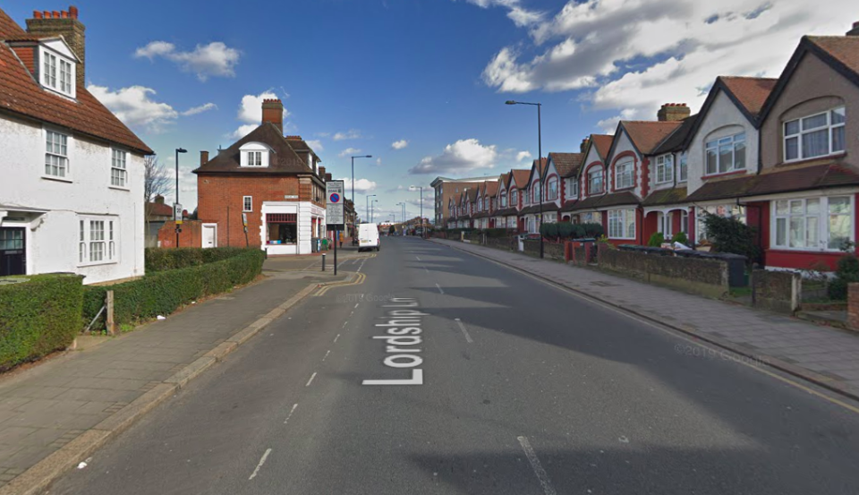 Police were called at around 9.50pm on Tuesday to Lordship Lane in Haringey (Google)
