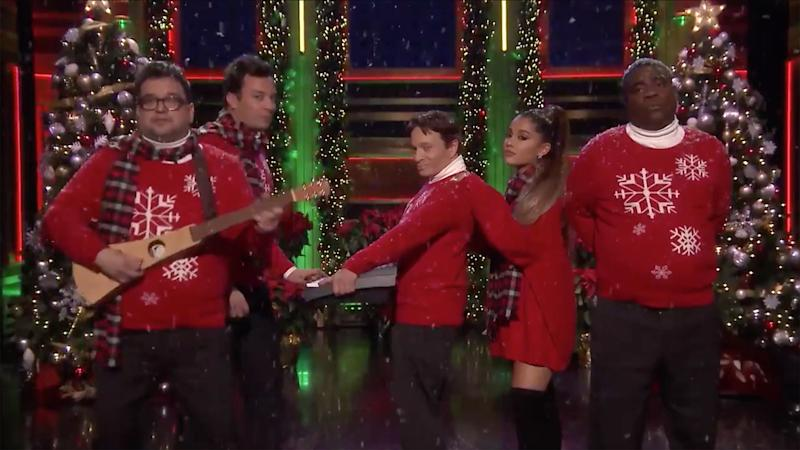 Ariana Grande Recreates SNL's 'I Wish It Was Christmas Today' Sketch