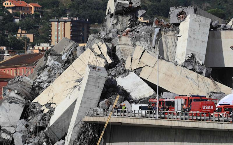 The Morandi bridge collapsed in August 2018 with the loss of 43 lives - AFP