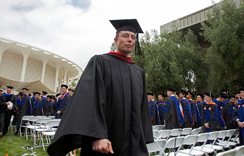 Musk at Caltech in 2012, where he gave a commencement speech.