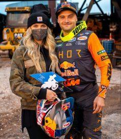 <em>Cooper Webb always thanks his wife, Mariah, in his podium interviews.</em>