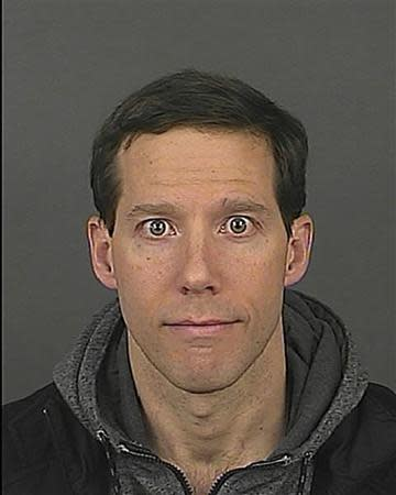 Aron Ralston is pictured in this handout booking photo
