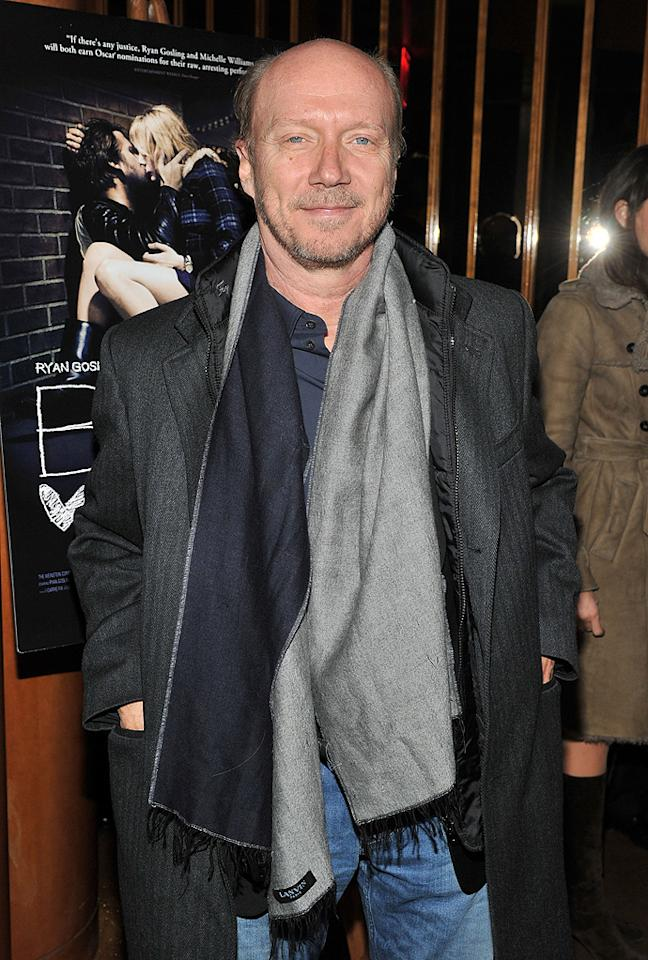 """<a href=""""http://movies.yahoo.com/movie/contributor/1800232257"""">Paul Haggis</a> attends the New York premiere of <a href=""""http://movies.yahoo.com/movie/1809945752/info"""">Blue Valentine</a> on December 7, 2010."""