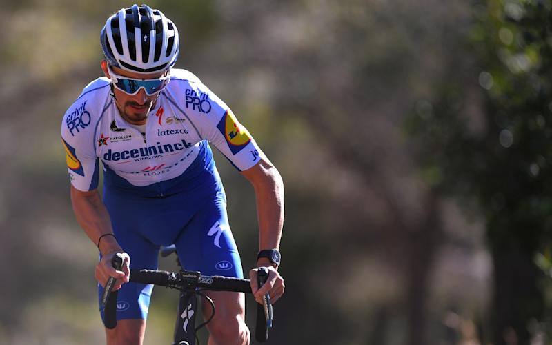 Julian Alaphilippe trains during a Deceuninck-Quick Step team camp in Calpe as the Frenchman prepares for the new season that will bring with it new challenges - Velo