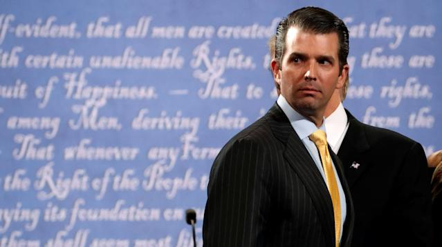 President Donald Trump's oldest son, Donald Trump Jr., communicated with WikiLeaks over Twitter direct message during the 2016 presidential race, according to a report in The Atlantic published Monday.