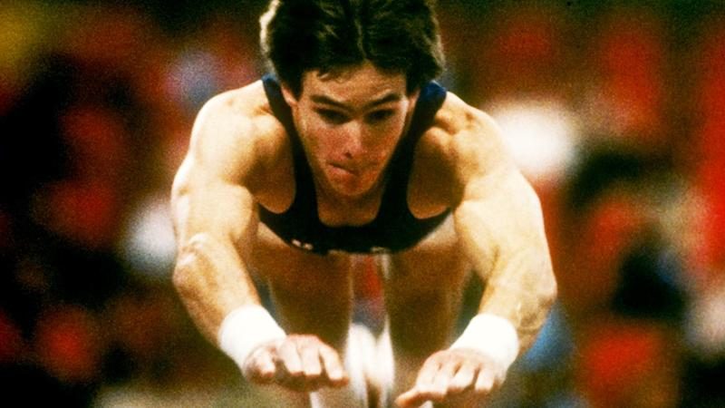 Kurt Thomas, pictured here in action for the United States at the world championships.
