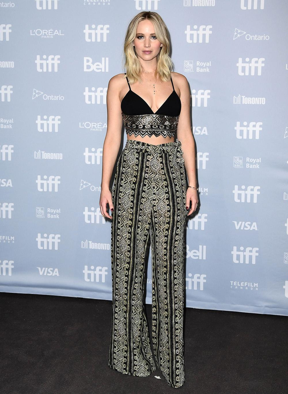 116124235 The actress wore Sally LaPointe to an earlier TIFF premiere. (Photo by Emma  McIntyre Getty Images for Paramount Pictures)
