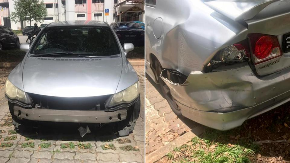 A 26-year-old man has been arrested for allegedly driving in a rash manner. PHOTOS: Singapore Police Force)