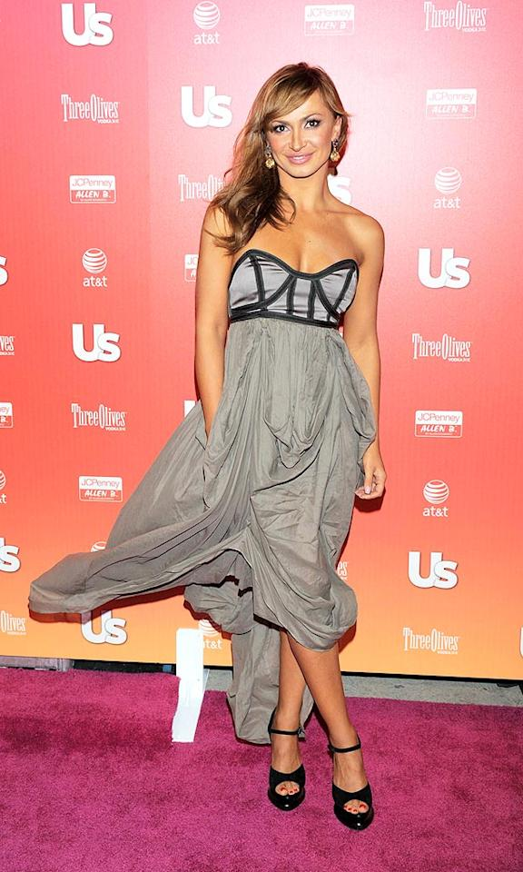 "Meanwhile, dancer Karina Smirnoff's voluminous gray gown blew in the breeze. Todd Williamson/<a href=""http://www.wireimage.com"" target=""new"">WireImage.com</a> - April 22, 2009"