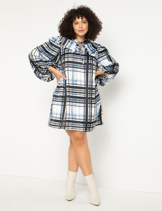 """<h2>Eloquii Puff Sleeve Collared Dress </h2><br>This collared plaid print dress is fun but sophisticated enough to make it a great option for the business-friendly casual Friday.<br><br><em>Shop <strong><a href=""""https://www.eloquii.com/puff-sleeve-collared-dress/1247917.html"""" rel=""""nofollow noopener"""" target=""""_blank"""" data-ylk=""""slk:Eloquii"""" class=""""link rapid-noclick-resp"""">Eloquii</a></strong></em><br><br><strong>Eloquii</strong> Puff Sleeve Collared Dress, $, available at <a href=""""https://go.skimresources.com/?id=30283X879131&url=https%3A%2F%2Fwww.eloquii.com%2Fpuff-sleeve-collared-dress%2F1247917.html"""" rel=""""nofollow noopener"""" target=""""_blank"""" data-ylk=""""slk:Eloquii"""" class=""""link rapid-noclick-resp"""">Eloquii</a>"""