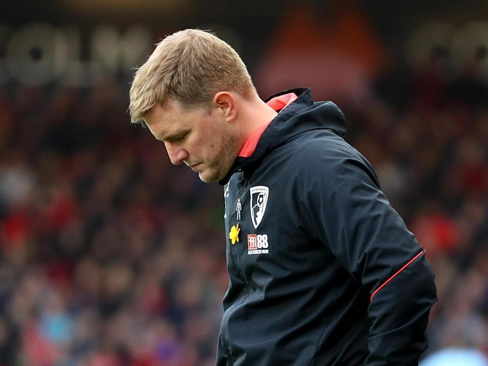 Eddie Howe, 42, has left Bournemouth, a club with whom he has close ties: Getty Images