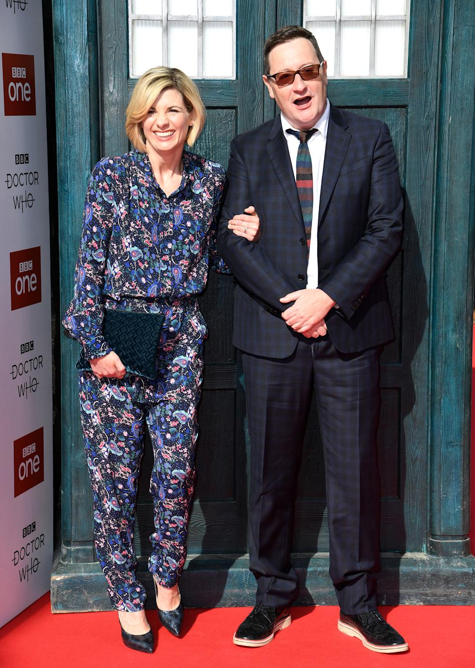 Jodie Whittaker and Chris Chibnall attending the Doctor Who premiere held at The Light Cinema at The Moor, Sheffield. Picture credit should read: Doug Peters/EMPICS