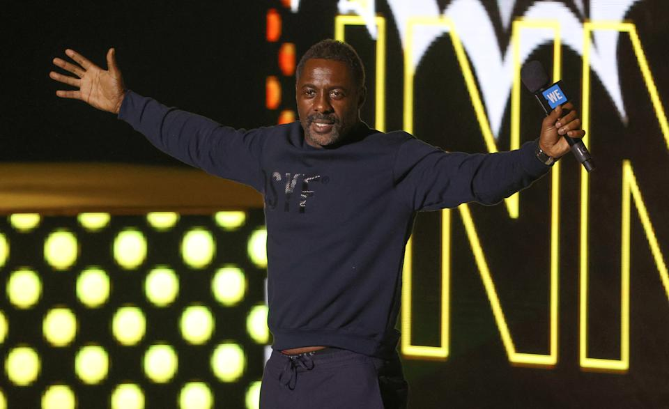 LONDON, ENGLAND - MARCH 04: Idris Elba attends WE Day UK 2020 at The SSE Arena, Wembley on March 04, 2020 in London, England. (Photo by Mike Marsland/WireImage)