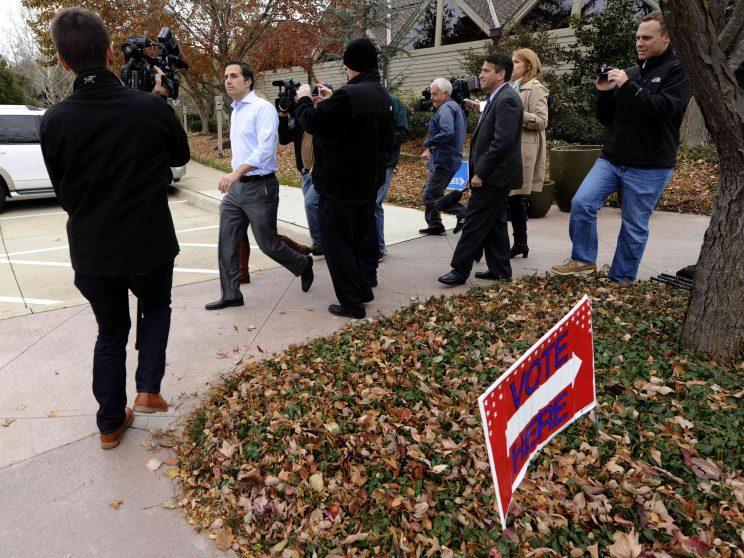 Independent U.S. Senate candidate Greg Orman leaves the voting booth after casting his ballot in 2014. (Photo: Dave Kaup/Reuters)