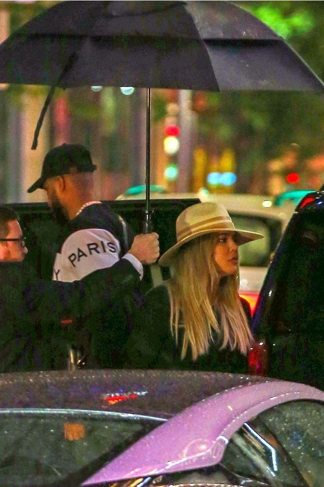Tristan Thompson and Khloé Kardashian step out for a friend's birthday in Cleveland, Ohio.