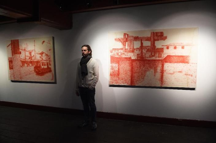 Tao Hongjing was the fictional creation of French artist Alexandre Ouairy, born in Nantes, who assumed the pseudonym a decade ago to sell more art as an unknown foreign name in China (AFP Photo/Greg Baker)